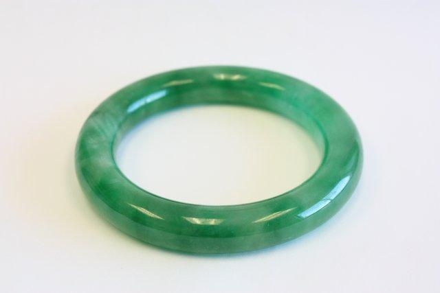 bangles chinese bracelet green grade translucent a bangle jade icy burmese