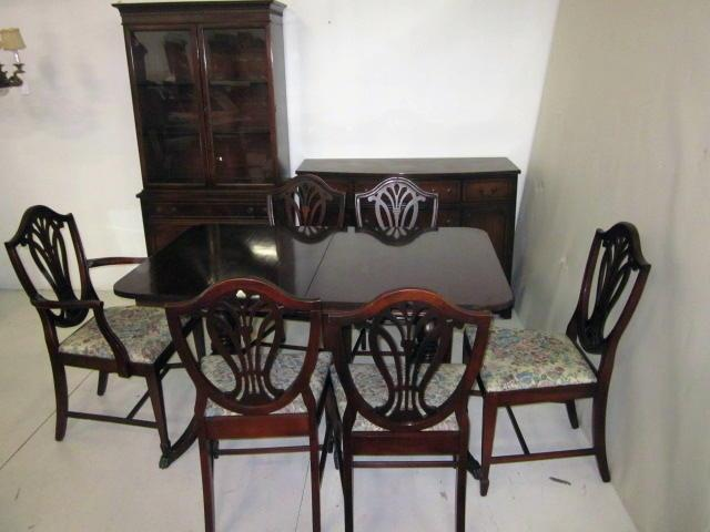 Mahogany dining room set & server ca. 1930\'s