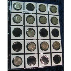 "542. Plastic page for 2"" holders with (12) Kennedy Half Dollars"