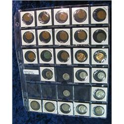 "544. Plastic page for 1 1/2"" holders with Cents to Dimes."