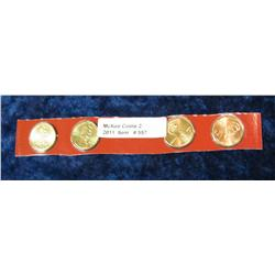 557. Four-Piece Set of 2009 D Lincoln Cents in Mint holder.