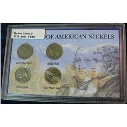 558. 120 Years of American Nickels. Liberty-Peace Medal.