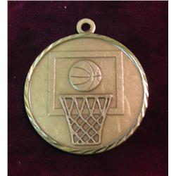 "562. ""POI East Vs West 1st"" Basketball Brass Pendant with"