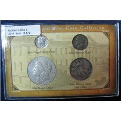 572. San Francisco Mint Four-Piece Coin Collection in special