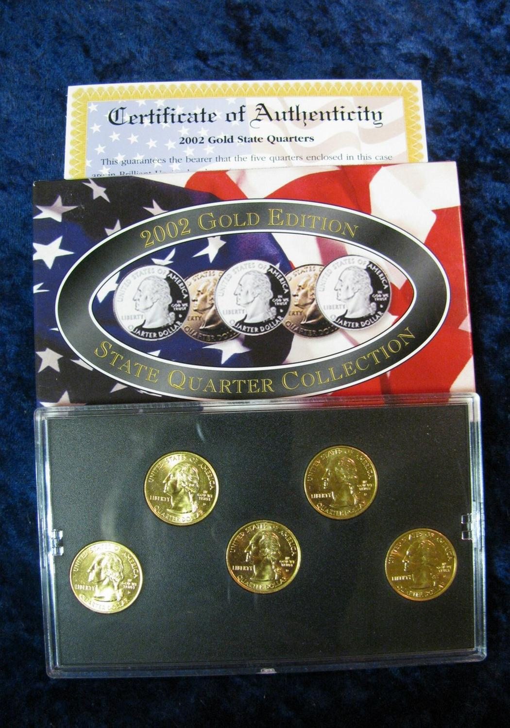 2003 gold edition state quarter collection in sealed case and.