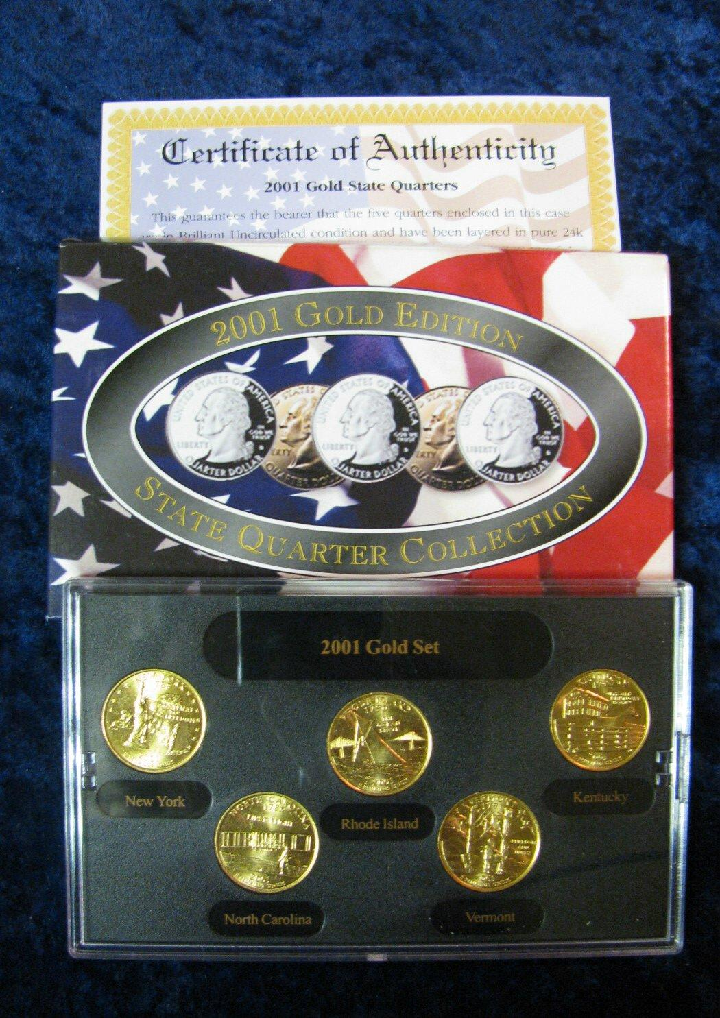 592. 2002 gold edition state quarter collection in original box.