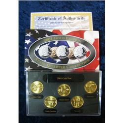 593. 2001 Gold Edition State Quarter Collection in original box.