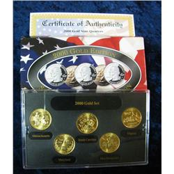 599. 2000 Gold Edition State Quarter Collection in original box.