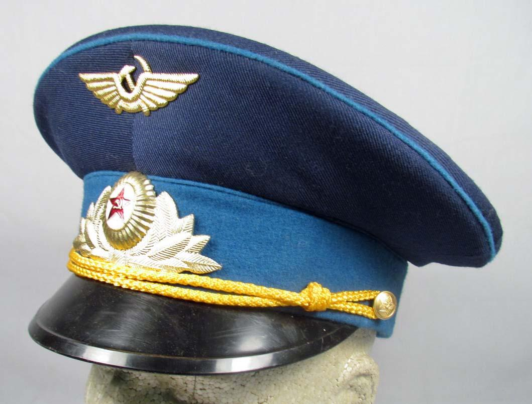 SOVIET UNION AIR FORCE OFFICERS DRESS VISOR CAP. Loading zoom 3a76e3d487b