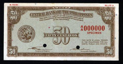 Central Bank Of The Philippines, 1949 Issue