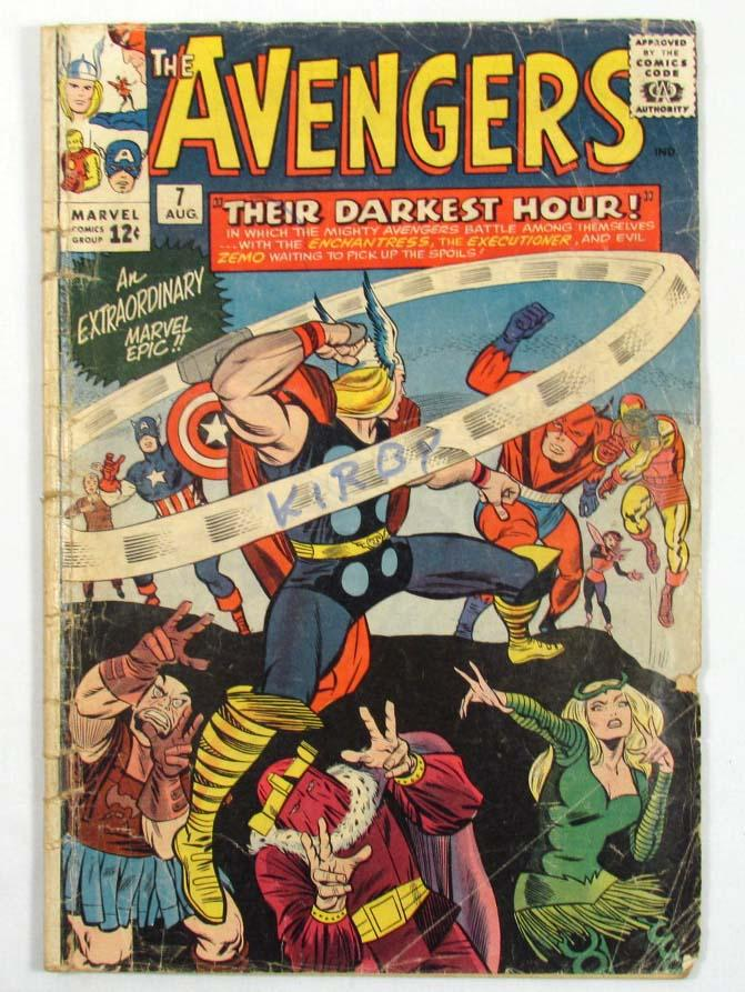 Vintage Comic Book Cover : Vintage avengers no comic book cent cover