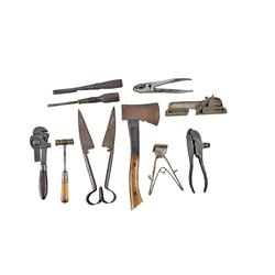 Ten Piece Tool Collection Five pieces marked Winchester including pliers, a monkey wrench, a loader,