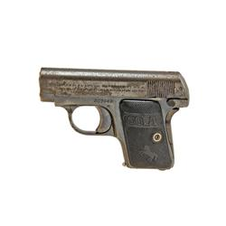 Colt Mdl 1908 Cal .25acp SN:357042 This early pre-war Colt shows 50-60% original blue, some rust ero