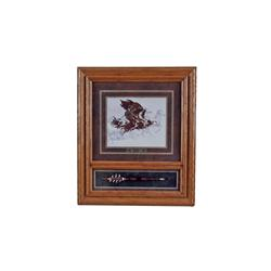 "Beautiful Fine Art Print by Bev Doolittle Entitled ""Eagle Flight"", double matted and framed in oak w"