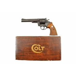 Colt Trooper Mark III Cal .357mag SN:19428J Double action 6 shot target revolver. Blued finish, chec
