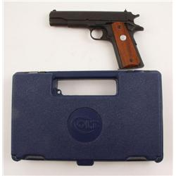 Colt Govt Mdl Cal .45acp SN:2735321 Nice Series 80 semi-auto pistol. Matte black finish, wood checke