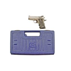 Colt Defender Cal .40S&W SN:GA02974 Single action semi-auto Series 90 compact pistol. Stainless stee