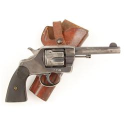 Colt 1895 DA Cal .38 SN:136195 Colt DA revolver, 4-1/2  barrel, blue finish, checkered hard rubber g