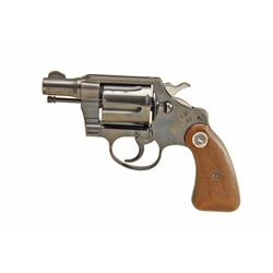 Colt Detective Spec Cal .38spec SN:788053 Double action 6 shot pocket revolver. Blued finish, checke