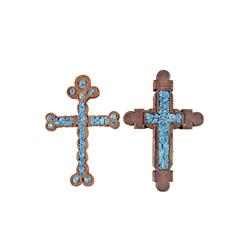 Collection of Two Handmade Wooden Crosses With inlaid turquoise cabs, from a local Arizona Artist.Wi