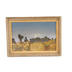 Original Oil on Canvas by Bernard Signed lower right hand corner, depicting a landscape scene with l