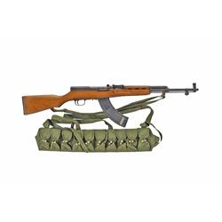 Norinco SKS Cal 7.62x39 SN:10206289 Chinese made semi-auto military rifle. Blued finish, smooth wood