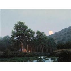 Stack, Michael - Camp in the Cottonwoods (b. 1947)