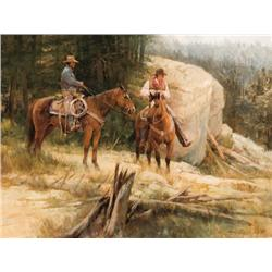 Rogers, Howard - A Ride in the Bull Mountains (b. 1932)