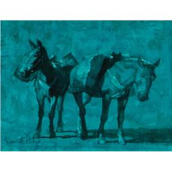 Riley, Kenneth - Moonlight Pack Mules (b. 1919)