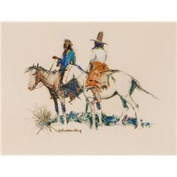 Black, Laverne Nelson - Two Indians on Horseback  (1887-1938)