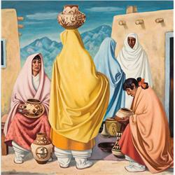 Bisttram, E. James - Fiesta in Taos (1895-1976)