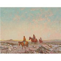 Berninghaus, Oscar - Crossing the Mesa (1874-1952)