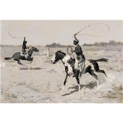 Remington, Frederic - It was to be a Lasso Duel to the Death (1861-1909)
