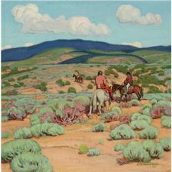 Hennings, E. Martin - Homeward Through the Sage (1886-1956)