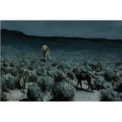 Remington, Frederic - The Wolves Sniffed Along the Trail but Came No Nearer (1861-1909)