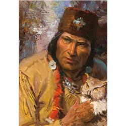 Lovell, Tom - Indian with Owl Study (1909-1997)