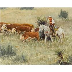 Snidow, Gordon - Cattle Drive (b. 1936)