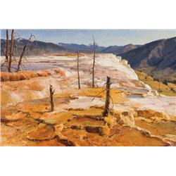 Aspevig, Clyde - The Terrace-Mammoth Hot Springs (b. 1951)