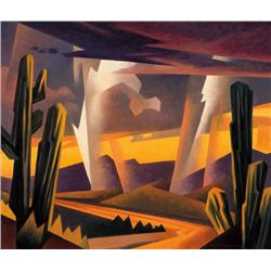 Mell, Ed - Storm and Desert Wash (b. 1942)