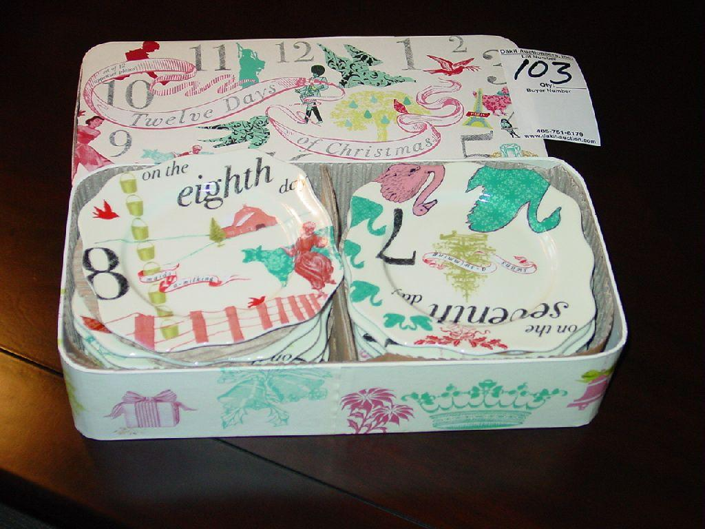 image 1 pottery barn 12 days of christmas appetizer plates