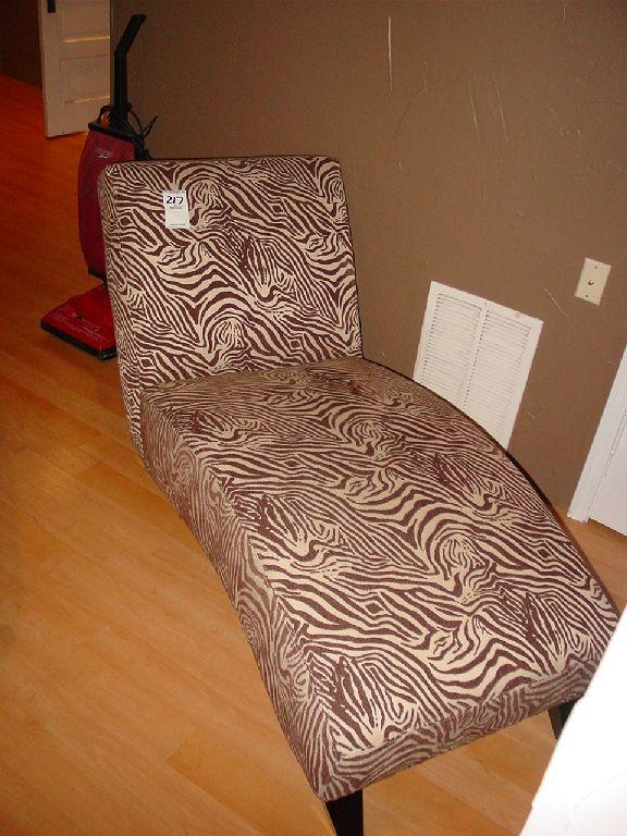 mathisi brothers brown and cream zebra print chaise lounge. Black Bedroom Furniture Sets. Home Design Ideas