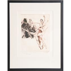 G.H. Rothe, Dance, Aquatint Etching