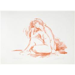 Jan De Ruth, The Nude III, Lithograph