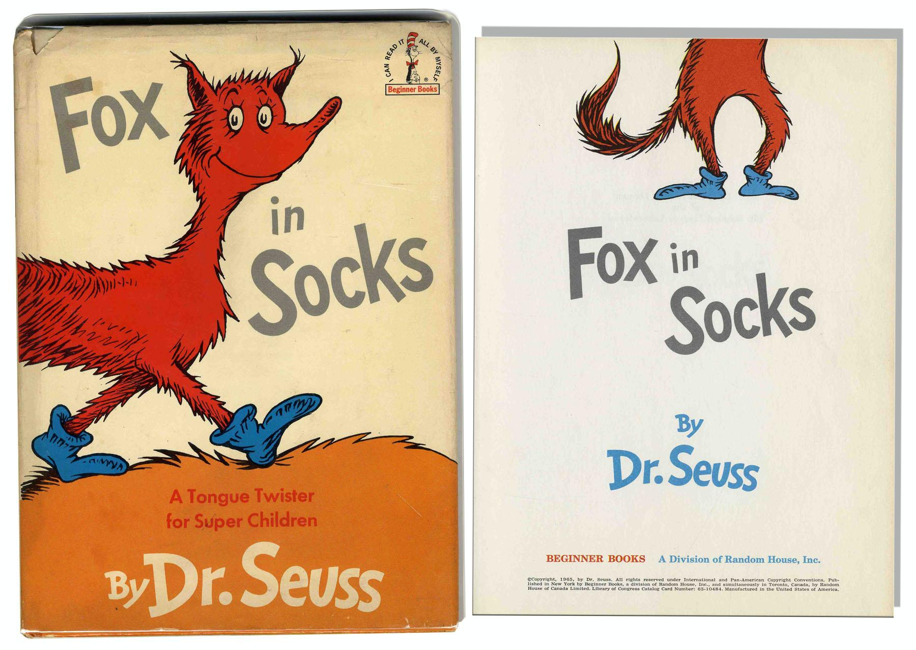 Dr Seuss Fox In Socks 1st Ed Dr Seuss Fox In Sox Coloring Pages