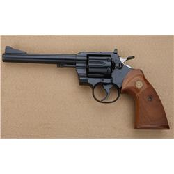 "Colt .357 Model DA revolver, .357 Magnum  cal., 6"" barrel, black finish, checkered Colt  medallion c"