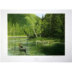 "Lot of 10 prints consisting of: A) ""Wyer's  Pool"" by Peter Corbin signed and numbered  192/400. Imag"