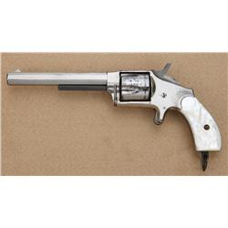 "Hopkins & Allen XL No. 5 Model spur trigger  revolver, .38 cal., desirable 5"" octagon  barrel, nicke"