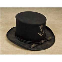 Hardee-style Officer's hat, dark blue felt  showing star and bugle with  original-to-the-period hat