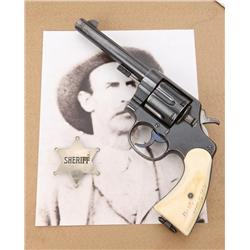 "Colt Model 1909 U.S. Property-marked New  Service DA revolver, .45 cal., 5-1/2"" barrel,  military bl"