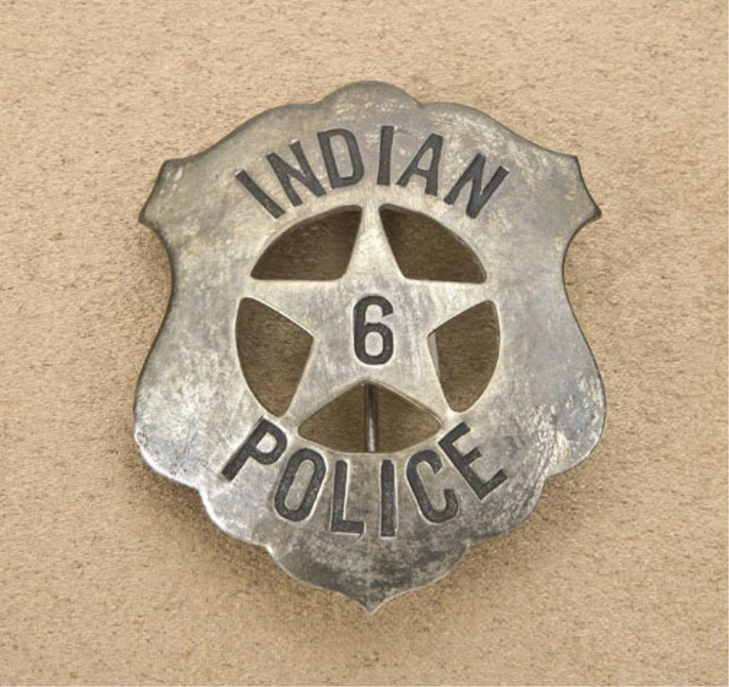 indian police cut out star shield badge with u201c6 u201d inside the star